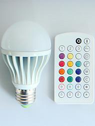 E26/E27 Ampoules Globe LED A60(A19) 3 diodes électroluminescentes LED Haute Puissance Intensité Réglable Audio-activé Commandée à