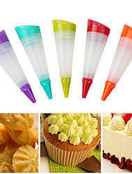 Silicone Cake Piping Utensil Cream Icing Bag Pastry Pen Baking Decor Tools Pastry Bags (Random Color)