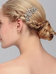 Недорогие -горный хрусталь волосы гребень головной убор свадебный вечер элегантный женственный стиль