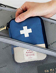 Travel Pill Box/Case Portable Travel Storage for Portable Travel Storage Red Blue