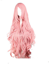 cheap -Fashion Pink Cosplay Wigs  Synthetic Hair Woman's  Long Wavy Animated Wig Cartoon Wig Party Wig