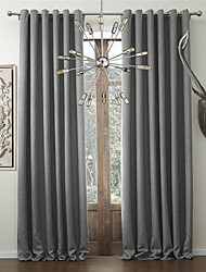 cheap -Rod Pocket Grommet Top Tab Top Double Pleat Two Panels Curtain Modern Designer European Baroque Rococo Mediterranean Neoclassical Country