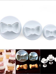 cheap -Bowknot Cake Cutter Cookie Mold Sugarcraft Fondant Plunger Decorate,Set of 3