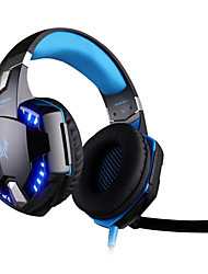 cheap -KOTION EACH G2200 Gaming Headphone USB 7.1 Surround Stereo Headset Vibration System Rotatable Mic LED
