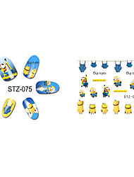 Мультипликация / Милый-3D наклейки на ногти-Пальцы рук / Пальцы ног-6.5*5.5cm-1pcs-Прочее