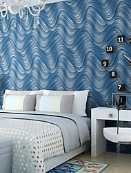 cheap -Contemporary Wallpaper Art Deco 3D Wave Stripe Wallpaper Wall Covering Non-woven Fabric Wall Art