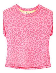 povoljno -Djevojčice Pamuk Proljeće Ljeto Bez rukávů Majica s kratkim rukavima Točkica Pink
