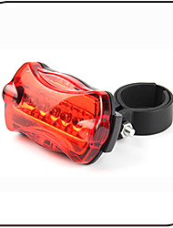 Недорогие -Задняя подсветка на велосипед огни безопасности Светодиодная лампа - Велоспорт Водонепроницаемый Антипробуксовочная Светодиодная лампа AAA