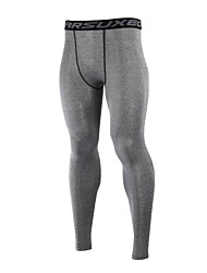 cheap -Arsuxeo Men's Long Sleeves Cycling Base Layer - Black Gray Navy Blue Light Green Bike Tights Pants / Trousers, Thermal / Warm, Quick Dry,
