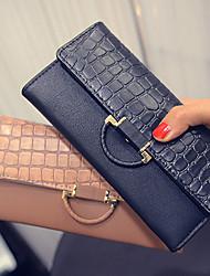 cheap -Women PU Tri-fold Clutch / Wallet / Card & ID Holder-Black / Khaki