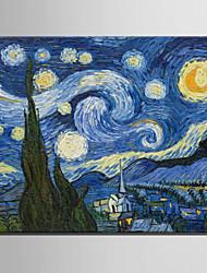 Dipinta a mano Riproduzione / PaesaggiStile europeo Un Pannello Tela Hang-Dipinto ad olio For Decorazioni per la casa