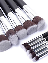 cheap -10PCS Professional Cosmetic Makeup Brush Set Eyeshadow&Face Foundation Blending Blush Powder Brush Kit