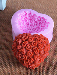cheap -Mold Flower For Chocolate For Pie For Cake Silicon Rubber Birthday High Quality 3D