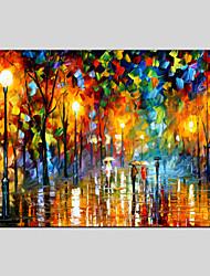 Peint à la main Paysages AbstraitsStyle européen / Modern Un Panneau Toile Peinture à l'huile Hang-peint For Décoration d'intérieur