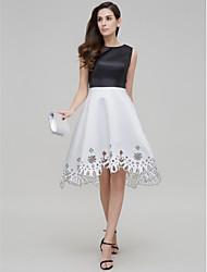 ts couture® Cocktail-Party a-line Juwel asymmetrische Kleid Satin mit