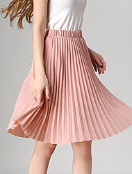 Women's New Style All Matches Pleated Skirt Vintage High Waist Show Thin Women's Skirts
