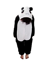 cheap -Kigurumi Pajamas Panda Onesie Pajamas Costume Flannel Toison Black Cosplay For Kid Animal Sleepwear Cartoon Halloween Festival / Holiday