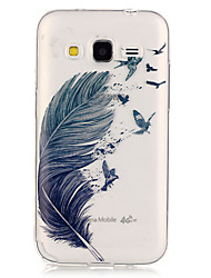 economico -Custodia Per Samsung Galaxy Samsung Galaxy Custodia Transparente Per retro Piume TPU per Grand Prime / Core Prime