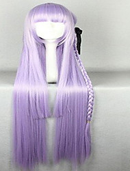 cheap -Wonderful Super Long Kniting  Purple Cosplay Wigs with Weaving Ponytail Synthetic Hair Wig Natural Animated  Party Wig