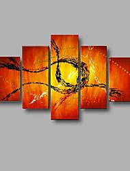 ручная роспись современной абстрактной стены искусства картины домашнего офиса декор холст, масло 5pcs / комплект с растянутыми кадра