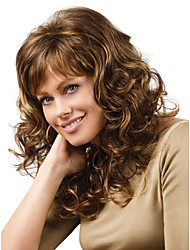 Classic Long Curly Wig for Europe and American Ladies Daily Wearing