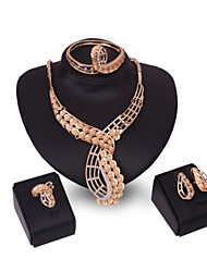 XIXI Women Vintage / Cute / Party  Casual Gold Plated / Alloy  Necklace / Earrings / Bracelet / Ring Sets