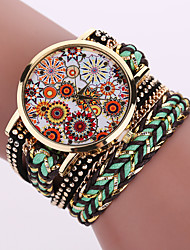 cheap -Women's Quartz Analog White Case Weave Leather Band Bracelet Wrist Fashion Watch Jewelry Cool Watches Unique Watches