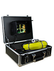 cheap -Pipe Inspection System   30m Pipeline Inspection Pipe Wall 7 Inch TFT Monitor Camera with 12 LED Lights 4GB  Card Record