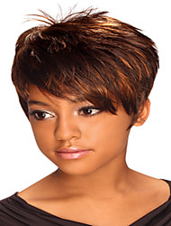 cheap -Hot Short Straight  Ladies' Synthetic Hair Mix Color Freeshipping Part Wig