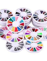 20 scatole / set scintillio acrilico DIY 3d nail art strass&unghie arte decorazione di strass decorazioni disegno adesivo