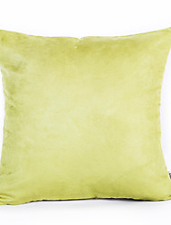 Green Color Suede Cushion Cover