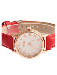cheap -Women's Quartz Wrist Watch Hot Sale PU Band Charm Dress Watch Fashion Black White Red Purple