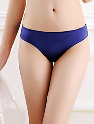 cheap -Women's Seamless Panties Ultra Sexy Panties G-strings & Thongs Panties Solid Colored Low Waist