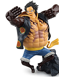 abordables -Las figuras de acción del anime Inspirado por One Piece Monkey D. Luffy PVC 17.5 CM Juegos de construcción muñeca de juguete