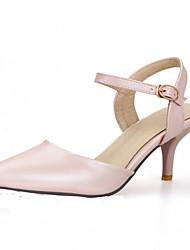 お買い得  -女性用 女の子 靴 レザーレット 春 夏 スティレットヒール のために オフィス&キャリア パーティー ベージュ ブルー ピンク