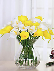 cheap -10pcs/lot Real Touch Lily Calla  Artificial Flower Bouquets Home Wedding Decoration Bridal Decor