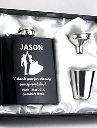 cheap -Bride Groom Bridesmaid Groomsman Couple Parents Stainless Steel Hip Flasks Wedding Anniversary Birthday Congratulations Graduation Thank