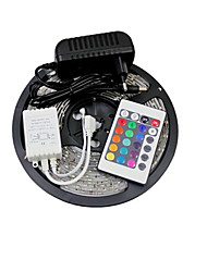 abordables -ZDM® 5 m Sets de Luces 150 LED 1 Controlador remoto de 24 teclas 1 x 12V 3A adaptador RGB Conectable 12V 1 juego