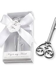 Chrome Skeleton Key Bottle Opener Wedding Favors for Guest