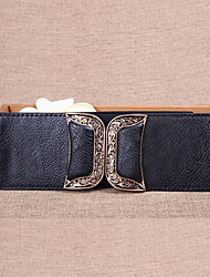 cheap -Women Leather Fashion Wide Belt,Vintage / Cute / Party / Casual Alloy