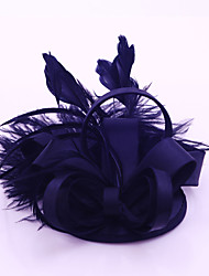 Women's Satin / Feather Headpiece-Wedding / Special Occasion / Casual / Outdoor Fascinators 1 Piece
