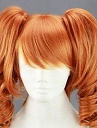 cheap -Synthetic Wig Curly Synthetic Hair Red Wig Women's Capless