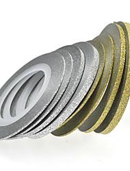 abordables -1pcs 20m 2 mm del arte del clavo de oro / plata brillo de la raya de herramientas del clavo cinta del arte de la decoración nc275
