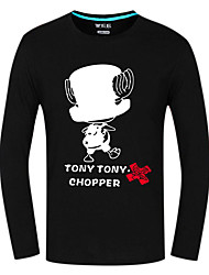 Ispirato da One Piece Tony Tony Chopper Anime Costumi Cosplay Cosplay Tops / Bottoms Con stampe Manica lunga Top Per Unisex