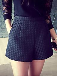 baratos -Mulheres Casual Cintura Alta Sem Elasticidade Jeans Calças, Poliéster Verão Sólido
