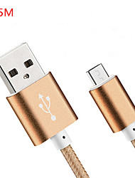 abordables -USB 2.0 Normal Cable Para Huawei Sony Nokia HTC Motorola LG Lenovo Xiaomi 150 cm Nailon