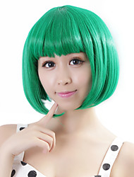 "Neitsi 100% Kanekalon Fiber 14""(35cm) 160g/pc Women's Girl's Cosplay Short Synthetic BOB Hair Wig Green"
