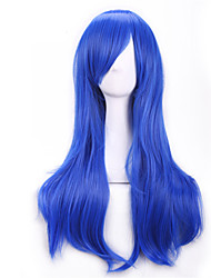 70 Cm Harajuku Anime Colorful Cosplay Wigs Young Long Curly Synthetic Hair Wig Blonde Wig For Halloween Costume