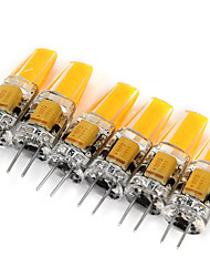 cheap -6pcs 2W 200 lm G4 LED Bi-pin Lights MR11 1 leds COB Decorative Warm White Cold White AC 12V DC 12V