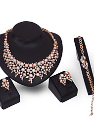 cheap -Latest Ladies Fashion European And American Exaggeration Jewelry Set / Necklace / Ring / Earrings / Bracelet